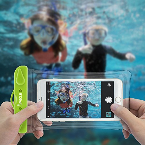 Waterproof Cell Phone Case, iSPECLE 3 Pack Waterproof Cases Pouch Dry Bag for iPhone 8 7 6S Plus 5 SE X Nexus 6P 5X, Samsung Galaxy S8 Edge Kayaking Snorkeling Swimming Fishing Beach Green Orange Pink by iSPECLE (Image #5)