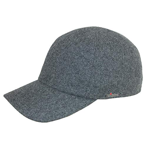 Wigens Men's Wool Baseball Cap with Earflaps, 63, Light - Wigens Wool