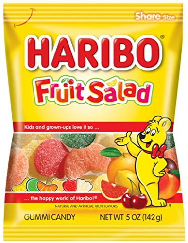 Haribo Gummi Candy, Fruit Salad, 5 oz. Bag (Pack of 12)