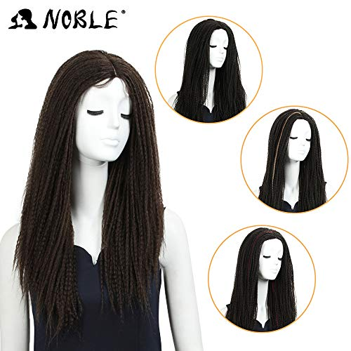 NOBLE MAX Dreadlock Braid Wig Black Dreadlock Hair Wig Lace Parting Wig for Black Women (26inches, 4) ()