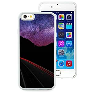 Fashionable Custom Designed iPhone 6 4.7 Inch TPU Phone Case With Highway Under The Stars Red Light_White Phone Case