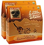 Wet Noses Little Stars Dog Training Treats, Made in USA, 100% All Natural Organic Ingrediants, 9 oz Box (Sweet Potato, 2-Pack)
