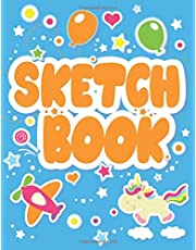 Sketchbook: Colored notebook for drawing for Kids, Blank Page ( Size 8.5 x 11 ) Drawing book , Sketch pad.