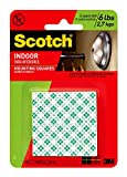 3M Scotch 311DC Heavy Duty 1-Inch Mounting Squares, 48-Squares