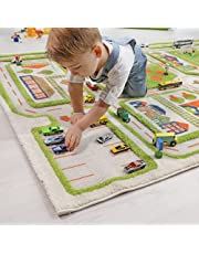 IVI Traffic Green by IVI 3D Play Rugs, 39x59