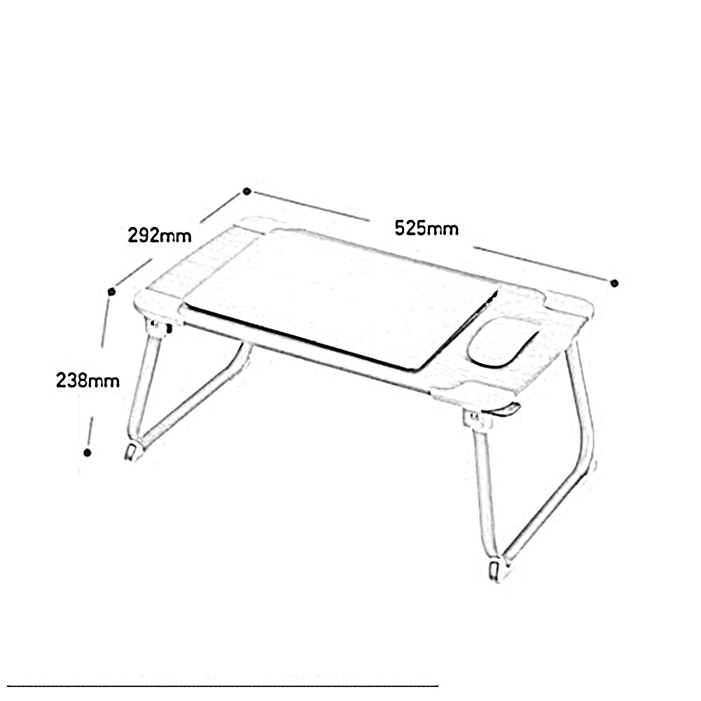 PENGFEI Portable Standing Desk Multifunction Convenient Foldable Read A Book Picnic College Students Wood Color 52.5x29.2x23.8CM by PENGFEI-xiaozhuozi (Image #2)