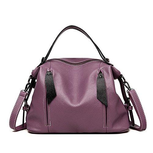 Señoras Retro Moda Bolsa Spanning Violet Solo Bolso GWQGZ Simple Hombro Negro Sesgar Casual wEqO8dX