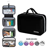 "Hanging Travel Toiletry Bag for Men and Women | Makeup Bag | Cosmetic Bag | Bathroom and Shower Organizer Kit | Leak Proof | Large (34""x11"") 