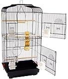 Jaula grande de doble puerta y columpio para pájaros San Pablo