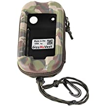 Garmin Montana 650 680 610 600 CASE made in the USA by GizzMoVest LLC. Camo w/ Cord Loop, Belt Clip & Lanyard w/Clip.