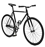 Critical Cycles Harper Coaster Fixie Style Single-Speed Commuter Bike with Foot Brake, Matte Black, 61cm-xl
