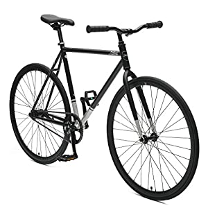 Critical Cycles Harper Coaster Fixie Style Single Speed Commuter Bike with Foot Brake, Matte Black, 53cm m