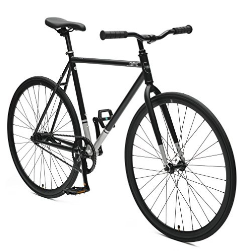 Critical Cycles Harper Coaster Fixie Style Single-Speed Commuter Bike with Foot Brake, Matte Black, 53cm-m