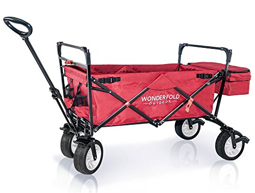 wonderfold-outdoor-premium-model-collapsible-folding-wagon-with-canopy-one-pedal-brakes-wide-eva-tires-and-sturdy-stand-ruby-red