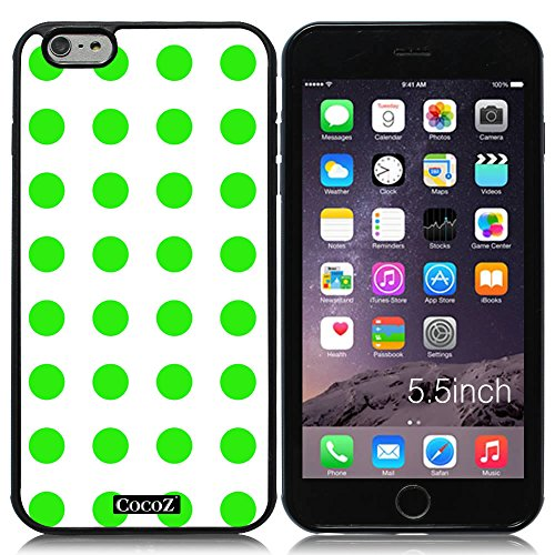 New Apple iPhone 6 s Plus 5.5-inch CocoZ Case Simple Lovely Polka Dot for Apple iPhone 6 s Plus 5.5-inch Release on 2014 (Black& Black TPU 31)