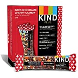 KIND Bars, Dark Chocolate Cherry Cashew + Antioxidants, Gluten Free, 1.4oz, 12 Count