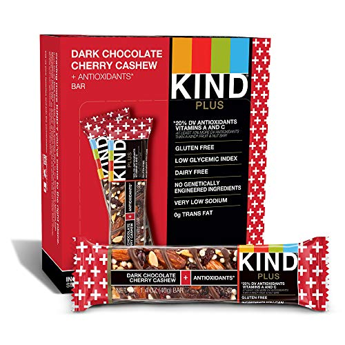 KIND Bars, Dark Chocolate Cherry Cashew + Antioxidants...