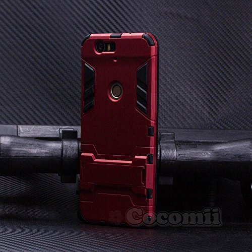 Cocomii Iron Man Armor Huawei Nexus 6P Case New [Heavy Duty] Premium Tactical Grip Kickstand Shockproof Hard Bumper [Military Defender] Full Body Dual Layer Rugged Cover for Huawei Nexus 6P (I.Red)