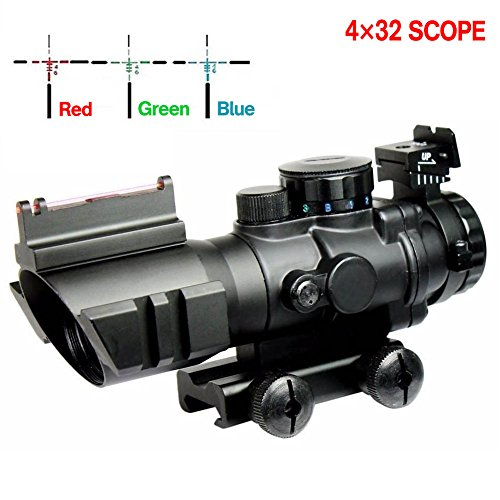 Aipa Prism 4x32 AR15 Rifle Scope Red/Green/Blue Triple