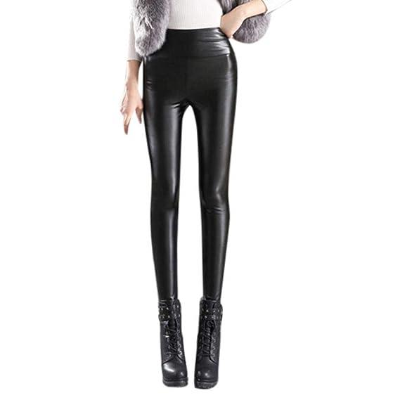 0f5bd82068 Pantalon Cuero Mujer Invierno Espesar Caliente Leggings Joven Bastante  Cintura Alta Elásticos Skinny Pantalones Lápiz Pantis Pantalones De Tiempo  Libre ...