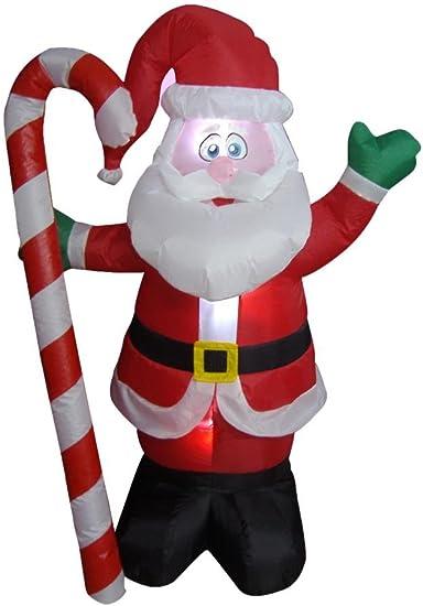 Amazon.com: 4 foot hinchable de Papá Noel de Navidad con ...