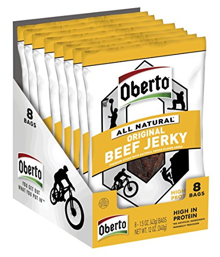 Oberto All-Natural Original Beef Jerky, 1.5 Ounce (Pack of 8)