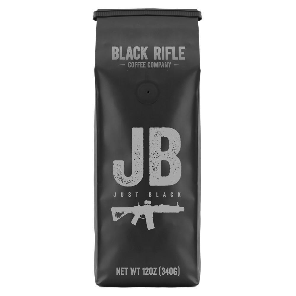 Black Rifle Coffee Company, Just Black Coffee, Dark Roast, Ground 12 oz Bag