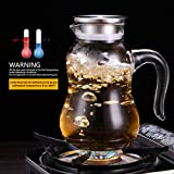 JIAQI 2 Liter/68 Oz Large Capacity Water Carafe
