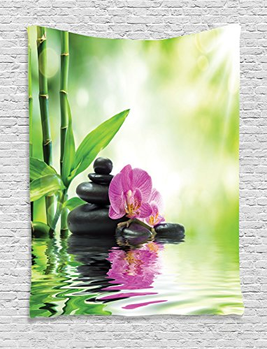Tapestry Ambesonne Orchids Spiritual Treatment