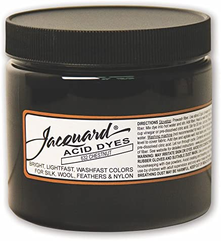 Jacquard Acid Dye for Wool Silk and Other Protein Fibers 8 Ounce Jar Concentrated Powder Chestnut 632