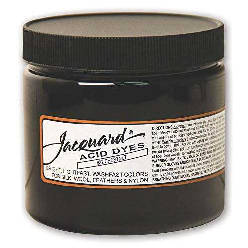 Jacquard Acid Dye for Wool, Silk and Other Protein Fibers, 8 Ounce Jar, Concentrated Powder, Chestnut 632 by Jacquard