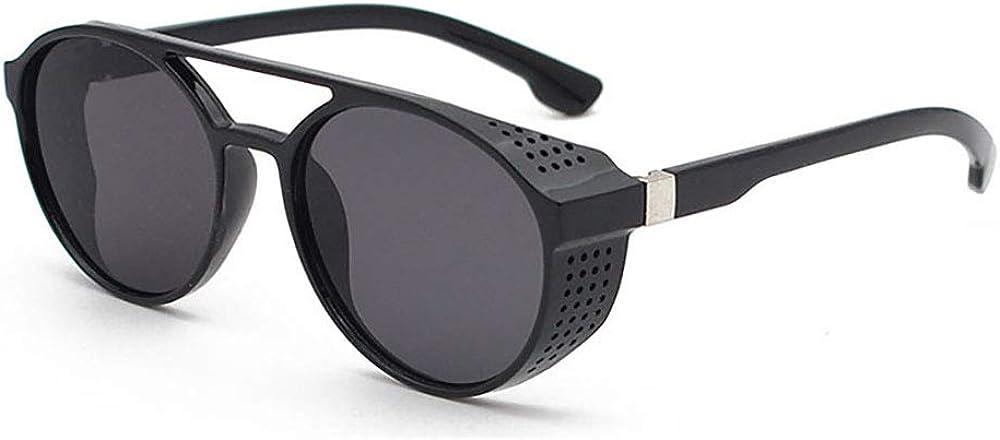 Coolpea Protección contra el viento Steampunk estilo retro inspirado círculo redondo gafas de sol polarizadas para