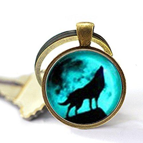 Ghost Wolf Keychain , Wolf, Picture Keychain,Wolf Keychain
