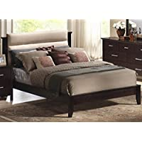 Coaster 201291Q Kendra Queen Platform Bed With Upholstered Headboard