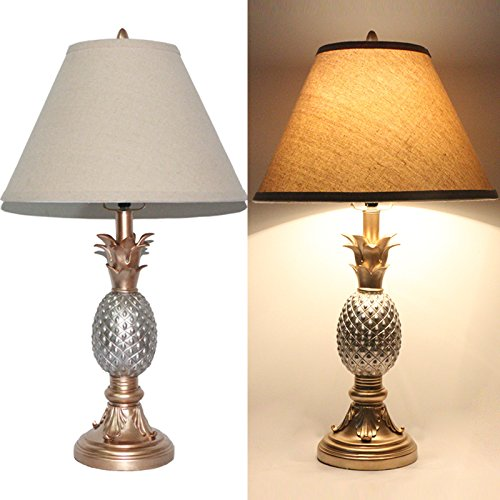 Tone Silver and Gold 26' High Pineapple Table Lamps