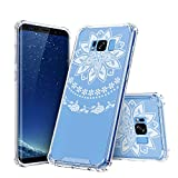 galaxy s1 cover - SAWE Galaxy S8 Case - Clear Crystal Shockproof Hard PC+ TPU Bumper Slim Case Cover for Samsung Galaxy S8 with [White Henna Mandala Floral Lace Design] (2017) (S1-005)