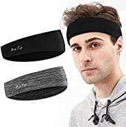 Sweatband for Men and Women - Sport Headbands Lightweight Sweat Band Moisture Wicking Workout Sweatbands for R