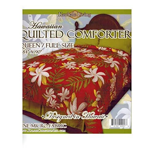 Kauhale Living Queen Size Hawaiian Quilted Quilt Bedding Comforter & 2 Pillow Shams for sale