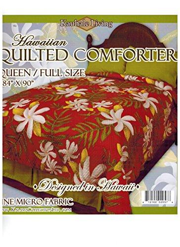 (Kauhale Living Queen Size Hawaiian Quilted Quilt Bedding Comforter & 2 Pillow Shams)