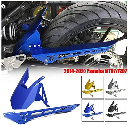 Fatexpress Motorcycle Aluminum Rear Mudguard Fender Tire Hugger Chain Guard Cowl For 2014 2015 2016 2017 2018 2019 2020 Yamaha Fz07 Mt07 Mt Fz 07 Fz07 Mt07 Accessories Parts Black