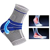 Ankle Brace Compression Support Sleeve with Silicone...