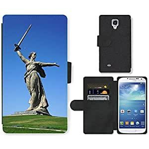 Hot Style Cell Phone Card Slot PU Leather Wallet Case // M00170115 Monument Birthplace Russia Volgograd // Samsung Galaxy S4 S IV SIV i9500