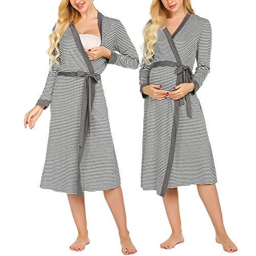 Ekouaer Womens Bathrobe Soft Lightweight Nightgowns Comfy Sleepwear Spa Robe (S-XXL)