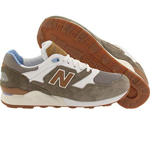 New Balance 878 para hombre de la zapatilla de deporte verde ML878ATB ATB grey/white