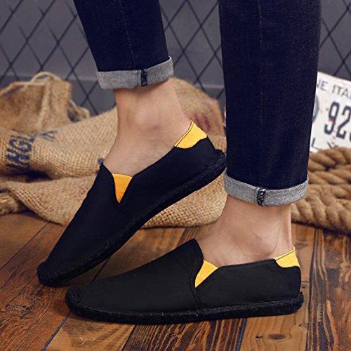 Mocassini Scarpe Piatto Moda Comode Righe Unisex Nero Vecchie Scarpa Manuale Lvguang Semplici Tela Fatte Pigre Pechino t0qBWSw