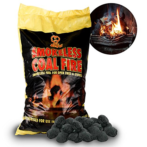 The Chemical Hut 20kg Of Smokeless Fire Fuel Coal Alternative for Log and Coal Fires And Fire Pits