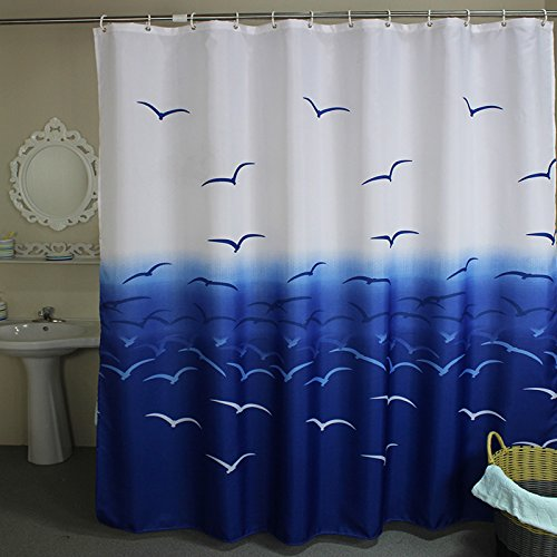 Eforcurtain Waterproof Moldproof Curtain Fashion