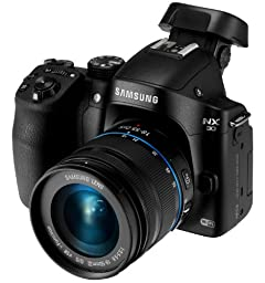 Samsung NX30 20.3MP CMOS Smart WiFi & NFC Mirrorless Digital Camera with 18-55mm Lens and 3\
