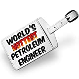 Luggage Tag Worlds hottest Petroleum Engineer, Travel ID Bag Tag - Neonblond