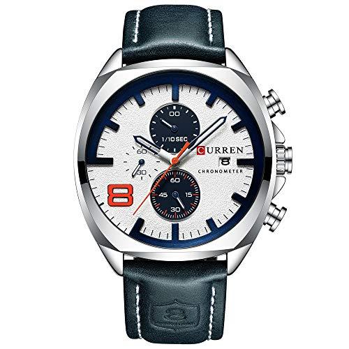 Mens Watches,CURREN Watches Quartz Analog Calendar,Wrist Watch for Men, Fashion Waterproof Stainless Steel Band